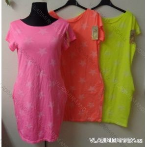 Šaty krátký rukáv dámské neonové (uni s-l) ITALSKá MóDA IM51787083