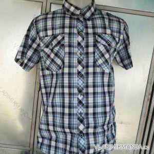Košile krátký rukáv pánská nadrozměrná  (m-3xl) 064