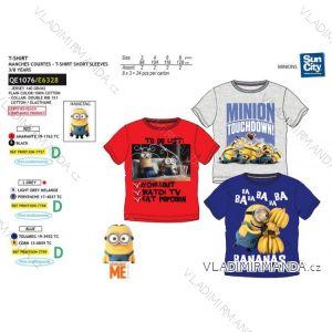 Tričko krátký rukáv mimoni dětské chlapecké bavlněné (3-8 let) SUN CITY QE1076