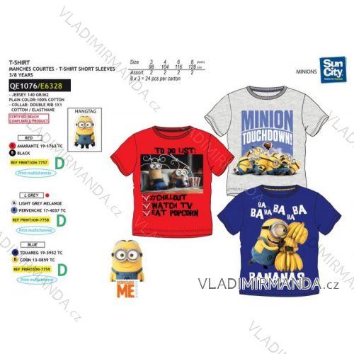 76179a3f5 Tričko krátky rukáv Mimoni detské chlapčenské bavlnené (3-8 rokov) SUN CITY  QE1076