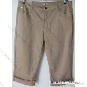 Kalhoty plátěné 3/4 krátké nadrozměrné dámské (42-52) SMILING JEANS N429