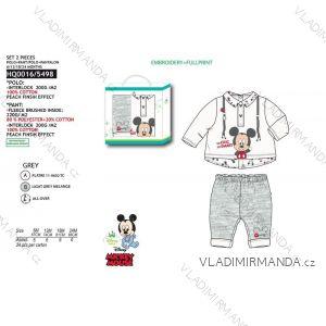 Set tričko dlouhý rukáv, tepláky mickey mouse kojenecké chlapecké (6-24 měsíců) SUN CITY HQ0016