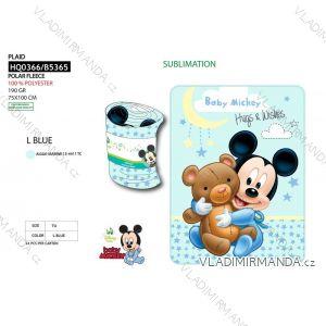 Deka přikrývka mickey mouse kojenecká chlapecká (75*100 cm) SUN CITY HQ0366