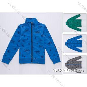 Mikina slabá dětská chlapecká  bavlněná (98-128) WOLF M2741