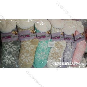 Ponožky hedvábné zateplené bavlnou dámské (one size) LOOKEN SM-HL-2011