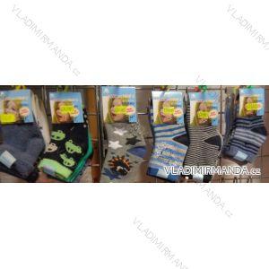 Ponožky teplé thermo protiskluz kojenecké chlapecké (0-36 měsíců) LOOKEN 6809ABS