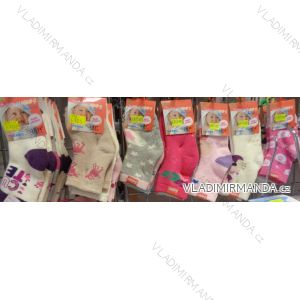 Ponožky teplé thermo protiskluz kojenecké dívčí (0-36 měsíců) LOOKEN ZTY-6705