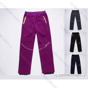 Kalhoty softshell s flaušem podzimní outdoor funkční nepromokavé dětské dorost dívčí (116-146) WOLF B2787