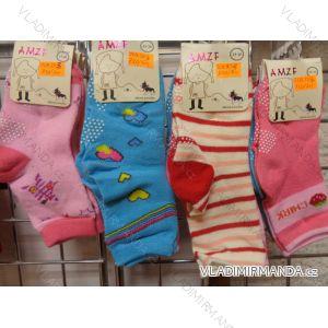 Ponožky  slabé protiskluzové dětské dívčí (17-23,23-26) AMZF ZCB-503