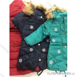 Bunda zimní zateplená s kožíškem dívčí (12 měs.) GOOD CHILDREN BN157