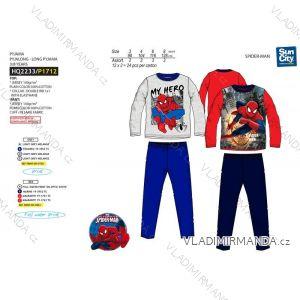 Pyžamo dlouhé spiderman dětské chlapecké (3-8let) SUN CITY HQ2233