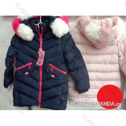 Bunda zimní  dorost dívčí kapuce zip (13/14) NATURE RQG-4756