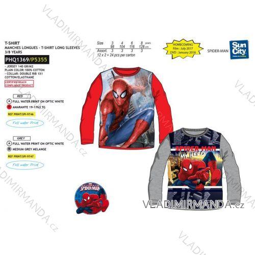 T-shirt long sleeve spiderman baby boys (3-8 years) SUN CITY PHQ1369  8da7b7592f7