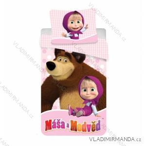 Povlečení masha and bear máša a medvěd dětské dívíčí (140*200) JF MASAMEDVED02