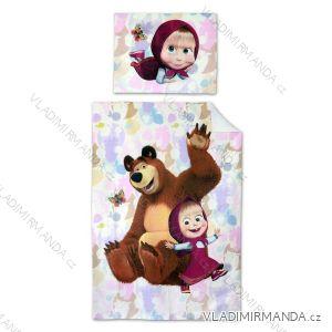 Povlečení masha and bear máša a medvěd dětské dívíčí (140*200) SETINO 710-163