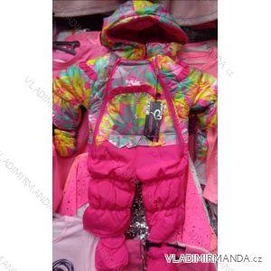 Kombinéza zimní nepromokavá šusťáková kojenecká dívčí (6-36m) CROSS FIRE CR8819