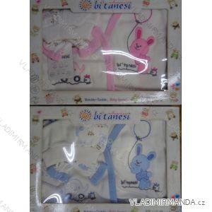 Komplet (5 ks) kojenecký dívčí a chlapecký (0-6 měsíců) TURECKá VýROBA 0536-1