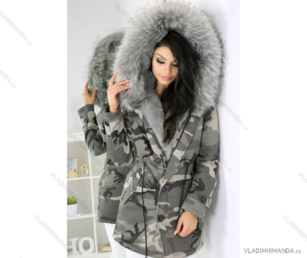 69323eb999e1 Kabát zimní parka s kožíškem dámská maskáč army (s-l) K-ZELL ITALSKá MODA  IM917208