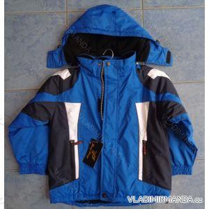 Bunda šusťáková podzimní dětská dívčí a chlapecká flaušová podšívka(98-128) PENG MING MC1105