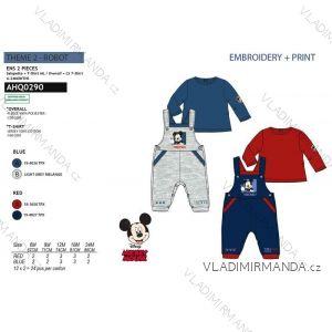 Tričko dlouhý rukáv, tepláky s laclem mickey mouse  chlapecké (6-24 měsíců) SUN CITY AHQ0290