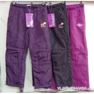 Kalhoty šusťákové zateplené flaušem kojenecké dětské dívčí chlapecké (86-116) GRACE M-603