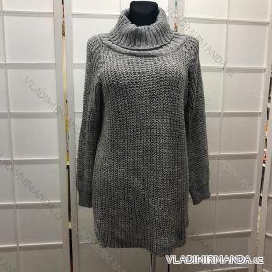 Sveter-šaty pletené dámske UNI talianska moda IM917222 322ada86ddf