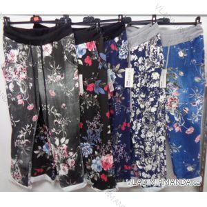 Kalhoty bavlna tenké dámská (uni s-l) ITALSKá MODA 2581 ZH