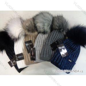 Čepice zimní s kulichem zateplená flaušem dámská (uni) VERONIC POL117076