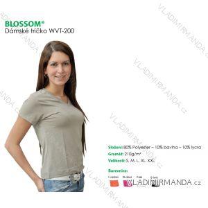 Tričko do v  krátký rukáv dámské jednobarevné (s-xxl) BLOSSOM WVT-200
