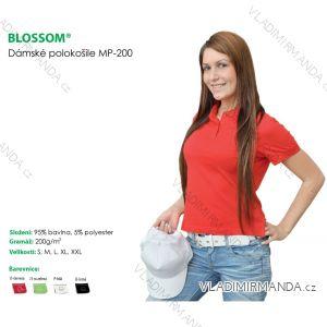 Polokošile  krátký rukáv dámská jednobarevná (s-xxl) BLOSSOM  MP-200