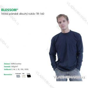 Tričko dlouhý rukáv pánské bavlněné jednobarevné  (s-3xl) BLOSSOM TR-160