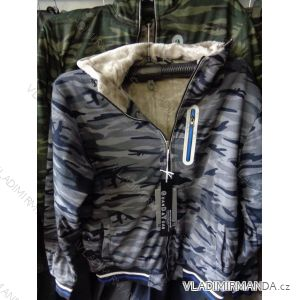 Mikina zateplená kožíškem pánská (m-2xl) GUAN DA YUAN F11179