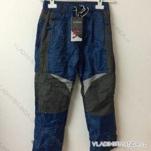 Kalhoty šusťákové teplé dorost dívčí a chlapecké flaušová podšívka  (134-164) GRACE B-4145