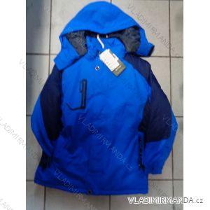 Bunda zimní lyžařská zateplená flaušem dorostová chlapecká  (134-170) QIFENG G7062B