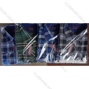 Košile flanel dlouhý rukáv pánská (m-3xl) CANARY  CANARY-10