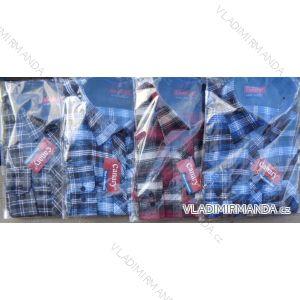 Košile flanel dlouhý rukáv pánská (m-3xl) CANARY  CANARY-11