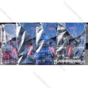 Košile flanel dlouhý rukáv pánská (m-3xl) CANARY  CANARY-12