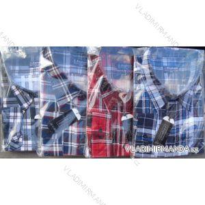 Košile flanel nadrozměrná dlouhý rukáv pánská (3xl-7xl,48-56) CANARY  CANARY-14