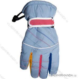 Rukavice prstové lyžařské dorost dívčí (24-26 cm) YO! RN-005