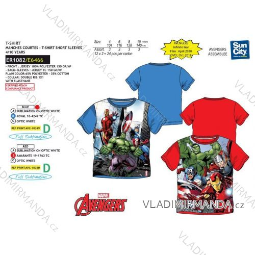 0dbb20de4c42 T-shirt short sleeve avengers baby boys boys (4-10 years) SUN CITY ...