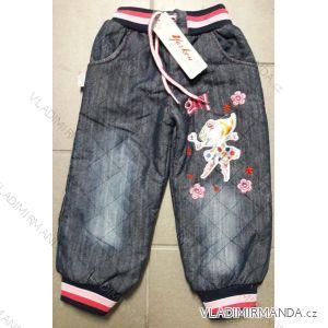 Kalhoty zateplené dětské dívčí (3-5 let) TURECKá MODA 999824