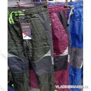 Kalhoty teplé šusťákové dětské  chlapecké flaušová podšívka (98-128) GRACE G-B41138