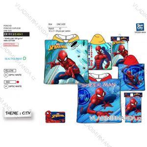 Osuška pončo spider-man dětská chlapecká bavlněná (uni) SUN CITY ER1913