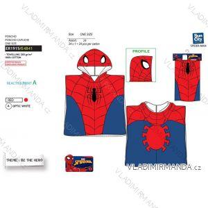 Osuška pončo spider-man dětská chlapecká bavlněná (uni) SUN CITY ER1915