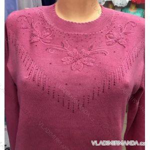 Pulovr svetr dlouhý rukáv dámský (m-2xl) POLSKá MODA GR17054