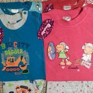 Pyžamo dlouhé kojenecké dětské bavlněné (74-104) COANDIN S1378