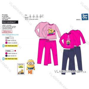 Pyžamo dlouhé mimoni dětské dívčí (3-8 let) SUN CITY PH2120