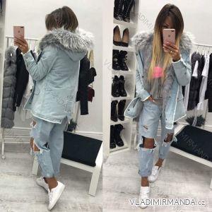 Bunda zimní parka jeans s kožíškem dámský (s-l) KZELL ITALSKá MODA IM917359