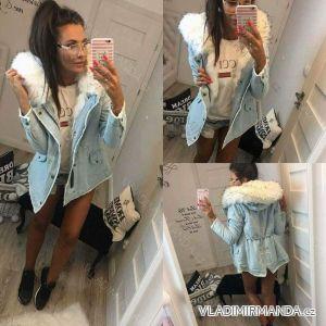 Bunda zimní  jeans s kožíškem dámský (s-l) ITALSKá MODA IM917360