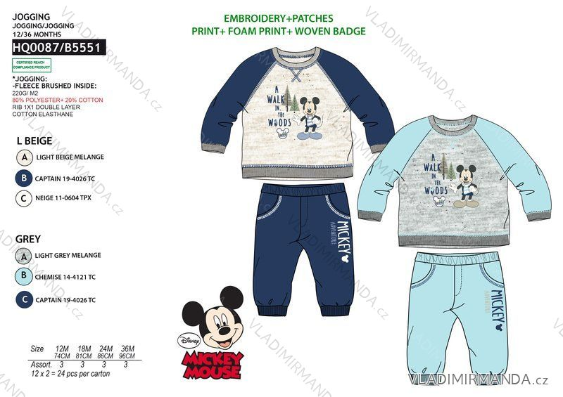 5d4bff6df Mickey mouse tracksuit baby boy (12-36 months) SUN CITY HQ0087